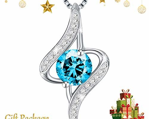 Necklace, Sterling Silver Blue Cubic Zirconia Pendant Necklace J.Rosée Fine Jewelry Women The Eye Lover