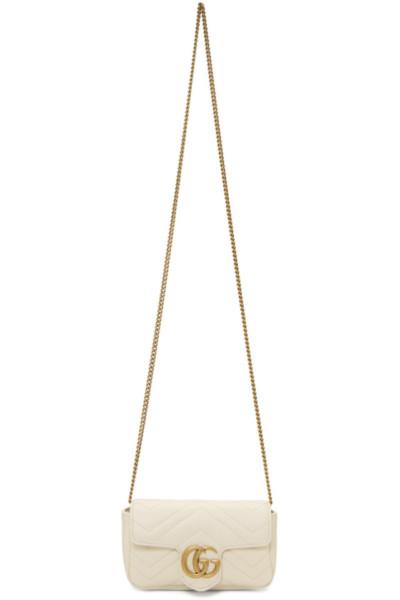 Image result for Gucci White Super Mini GG Marmont Bag