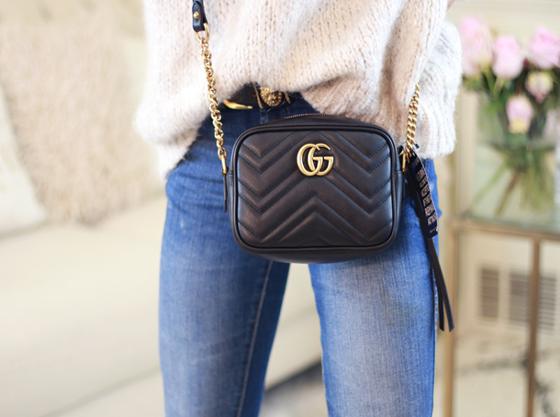 Image result for Gucci Black Small Marmont Camera Bag