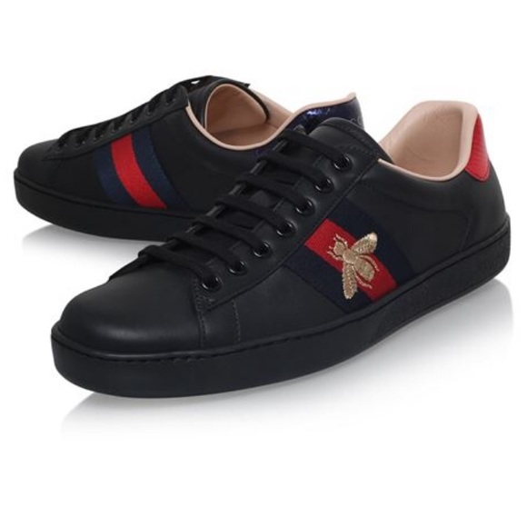 Image result for Gucci Black Ace Embroidered Bee Sneakers