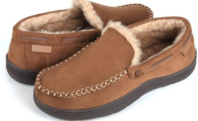 Zigzagger Men's Microsuede Moccasin Slippers Memory Foam House Shoes:  Amazon.ca: Shoes & Handbags